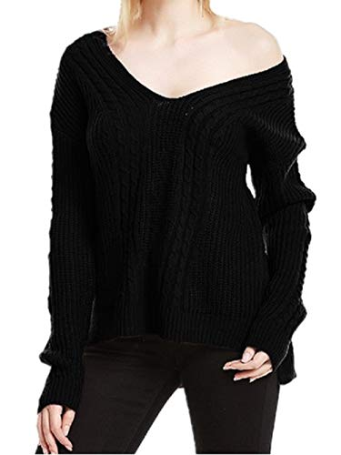 Pulls Noir Femme Automne Automne Pull FuweiEncore Hiver Sexy nq6xvaTqw1