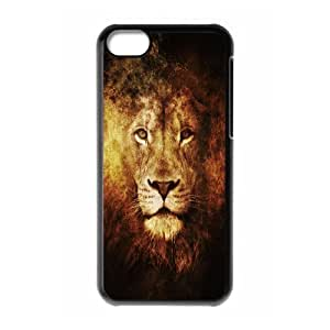Nuktoe Lion 13 Case for IPhone 5C Girl Protective, Iphone 5c Cases for Teen Girls for Guys with Black