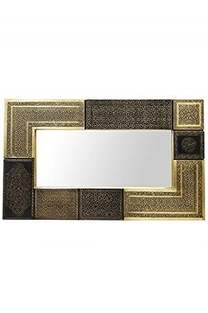 Espejo de pared oriental Sahra 100 cm grande dorado, espejo ...