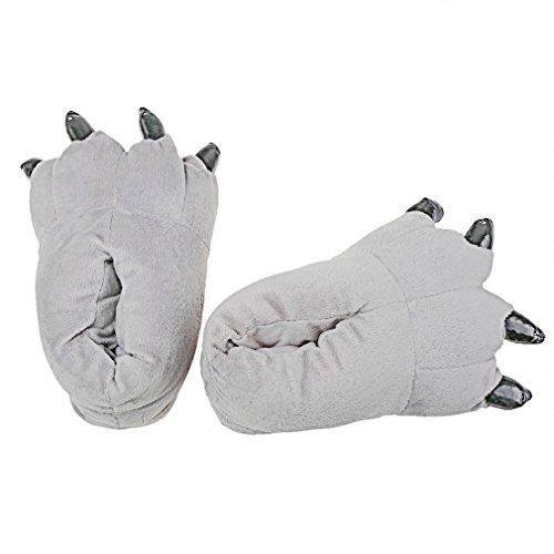 Paw Bear Pantoufles Ménage Paw Chaud Plush Warmth Winter A Pantoufles Paw Wacky szcxtop XwqSU1