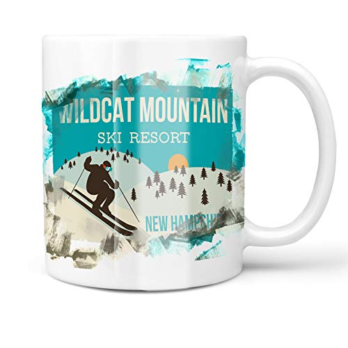 Neonblond 11oz Coffee Mug Wildcat Mountain Ski Resort - New Hampshire Ski Resort with your Custom Name (Wildcat Ski)