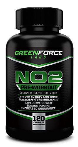 NO2 Oxyde Nitrique preworkout Supplément avec L-Arginine - augmenter la masse musculaire, réduire la fatigue, augmenter la force, améliorer l'endurance - All In One Workout Stimuler formule.