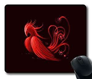 "Red Phoenix DIY Printed Custom Rectangle Mouse Pad Oblong Gaming Mousepad in 220mm*180mm*3mm (9""*7"") -1023089"