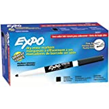 EXPO Low-Odor Dry Erase Markers, Fine Point, Black, 12-Count фото