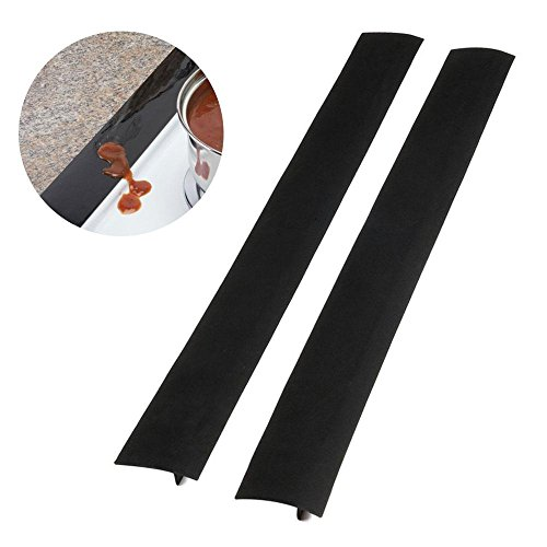 Kitchen Silicone Stove Counter Gap Cover, Pawaca Easy Clean Gap Filler, Great for Kitchen Stove Washing Machine Dryer Counters, 2 Pack