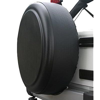 "Boomerang - 32"" Rigid Tire Cover (Plastic Face & Vinyl Band) for Jeep JK Wrangler (2007-2020) - Black Textured…: Automotive"