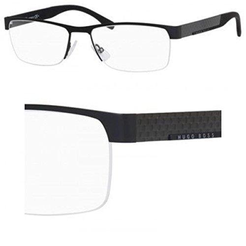 HUGO BOSS Eyeglasses 0644 0Hxj Black Carbon - Rimless Glasses Hugo Boss