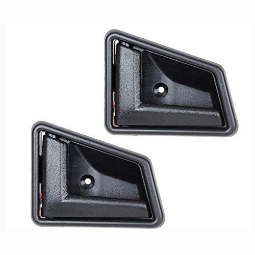 (AUTEX 2pcs Black Interior Door Handle (2pcs Front/Rear Left Driver Side) Compatible with Suzuki Sidekick 1991 1992 1993 1994 1995 1996 1997 1998)