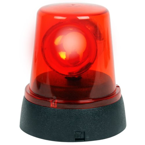 "4.5"" Rotating Red Flashing Beacon Party Lamp DJ Strobe Light"
