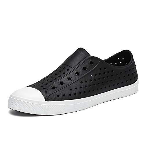 SAGUARO Boys Girls Kids Garden Clogs Sandals Lightweight Quick Dry Slip-On Beach River Water Shoes Black 1 M US Big Kid