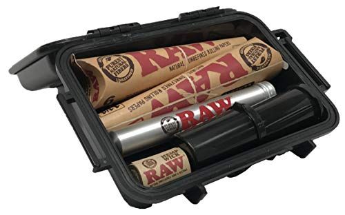 RAW Pre Rolled Cone 1 1/4 (2 Pack), Hemp Wick, Metal Cigar Tube, Pop Top Sotrage, with Leaf Lock Gear Travel Case - 7 Item Bundle by Rolling Paper Depot (Image #1)
