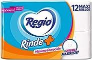 Regio Rinde Más Papel Higiénico, 12 Rollos