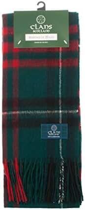 Clans Of Scotland Pure New Wool Scottish Tartan Scarf