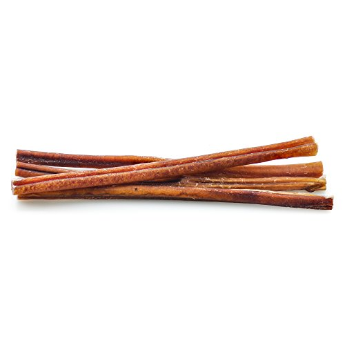 Best Bully Sticks Odor-Free Angus 12-inch Bully Sticks (12 Pack) - Made of All-Natural, Free-Range, Grass-Fed Angus Beef
