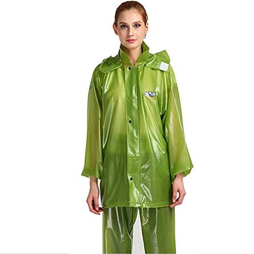 Asporto Materiale Plastico Guyuan L color Impermeabile Size Da In Uomo Green Green twRxSqXx