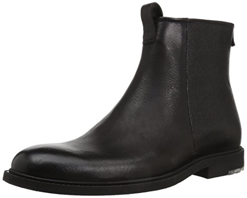 Hugo Boss Boss Orange by Men's Cultural Roots Leather Zip Fashion Boot, Black, 9 M - Hugo Boots