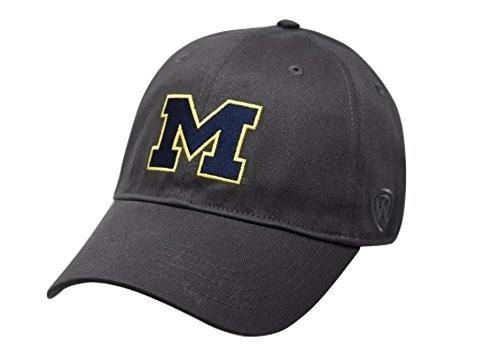 - Top of the World NCAA Michigan Wolverines Men's Fitted Hat Relaxed Fit Charcoal Icon, Charcoal