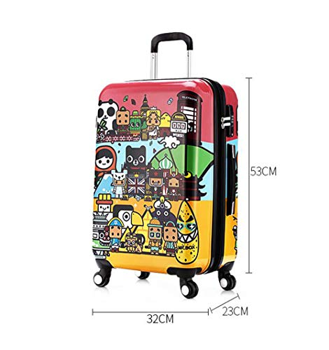 Suitcase, 20-inch children's password box, mute caster luggage, expandable, TSA customs password lock, security anti-theft by HongHe (Image #4)