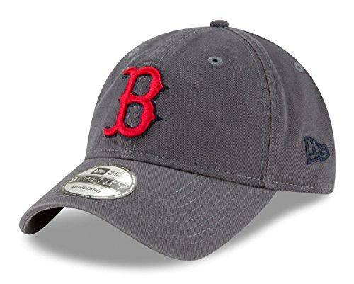 New Era Boston Red Sox MLB 9Twenty Twill Core Classic Adjustable Graphite Hat – DiZiSports Store