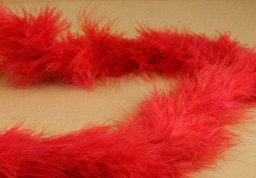 Mini Marabou Feathers BOA Craft Decoration 14 Grams - 2 Yards (RED)