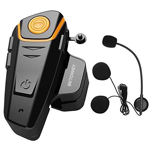 BETOWEY BT-S2 Motorrad Headset Intercom Funk Bluetooth Kommunikationssystem Helm Gegensprechanlage Freisprecheinrichtung…