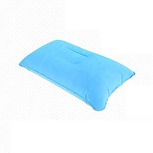 Almohada inflable MMTOP para viajes, camping, playa y coche, 1 pieza, pvc, azul claro, 38x24cm / 14.96x9.44inch