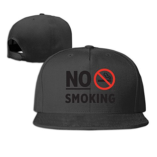 MaNeg No Smoking Unisex Fashion Cool Adjustable Snapback Baseball Cap Hat One Size