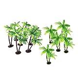 STOBOK Mini Coconut Palm Tree Miniature Plant Pots Bonsai Craft Micro Landscape DIY Decor,Pack of 24