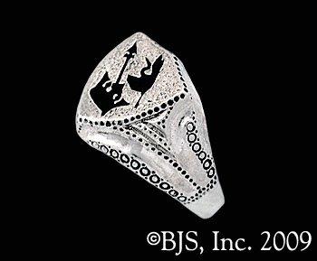 14k White Gold Lan's Ring ™ - Ring of the Malkieri Kings ™ Officially Licensed Robert Jordan Wheel of Time ® Jewelry by Raven Blackwood