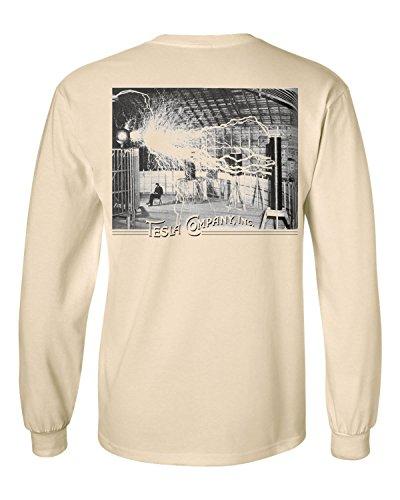 Tesla Coil Long Sleeve T-shirt/tee-Lrg