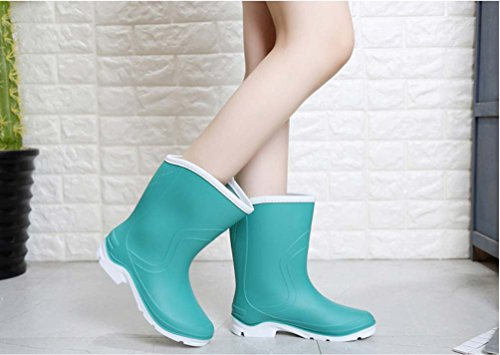 Anti Water Boots Shoes Boots Adult Ladies High DACHUI Boots Boots Shoes Blue Women's Water Skid wUZaRq