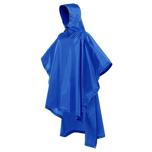 KUMFI Rain Ponchos Unisex Outdoor Waterproof Hooded Raincoat for Hiking, Hunting, Camping, Backpacking (Shelter Cloth Cap)