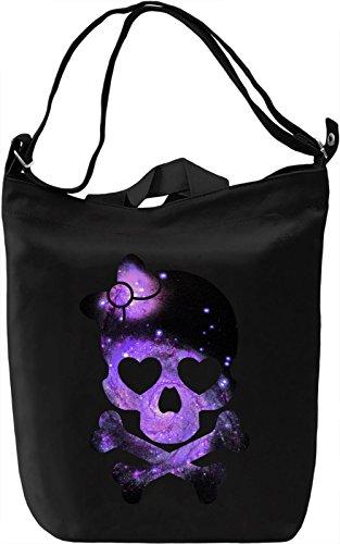 Galaxy Skull Borsa Giornaliera Canvas Canvas Day Bag  100% Premium Cotton Canvas  DTG Printing 