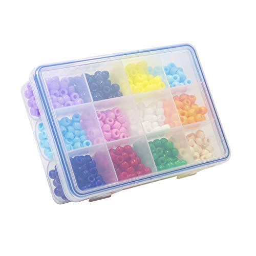 GMS 12 Compartment Storage Case for Crafts Beads Small Accessories Jewelry Earrings Necklaces Findings Screws Moisture-Free Anti Oxidation