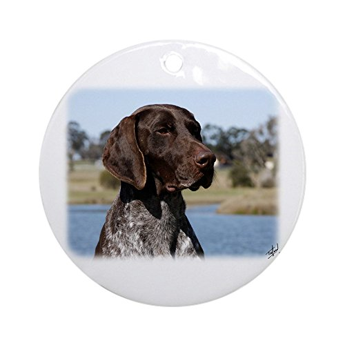 CafePress German Shorthaired Pointer 9Y832D-027 Ornament (Ro Round Holiday Christmas - German Ornament Pointer Shorthaired Christmas