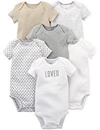 Baby 6-Pack Short-Sleeve Bodysuit