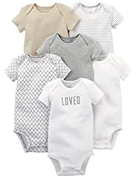 Simple Joys by Carter's Baby - Body de Manga Corta (6 Unidades)