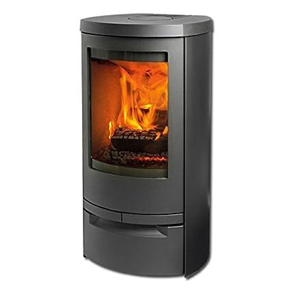 Estufa/horno/horno de leña Cosmo 971 de hierro fundido gris, 6 kW