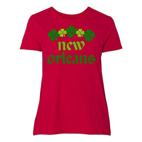 inktastic New Orleans Irish Women's Plus Size T-Shirt 2 (18/20) - Orleans Shop New Irish