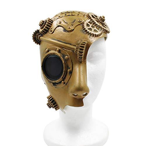 PartyCostume - Steam Punk Phantom of The Opera Mechanical Men Venetian Half Face Mask -