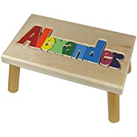 Name Puzzle Stool up to 12 letters 1 name (Primary Letters)