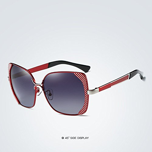 Sol blue Vendimia Sol de la la Gafas Femeninas de Las del Mariposa de para 2 Adultos polarizadas gradiente Mujeres Lujo de Sol para de Gafas de Yao Gafas qpYx0UBx