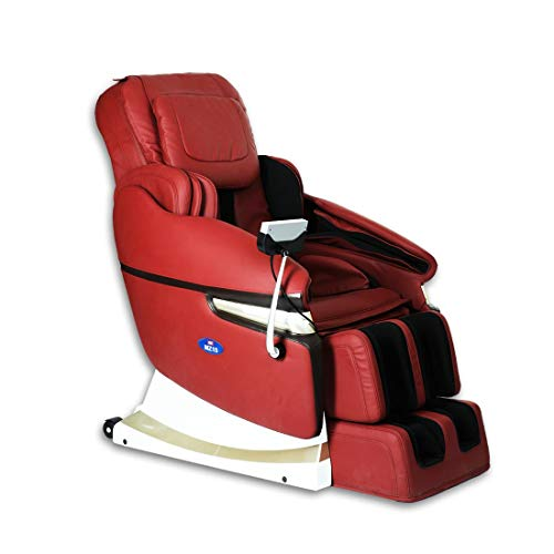 41Ujple7evL JSB MZ15 Full Body Massage Chair with Powerful 3D Back & Leg Massage (Red)