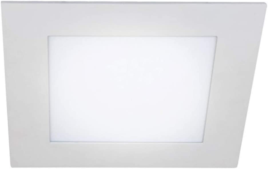 Wonderlamp W-E000120 W-E000119-Pack 2 x Downlight LED extraplano Cuadrado, iluminacion 18W (1450 LM), 4000K (luz Neutra), 220 W, Blanco