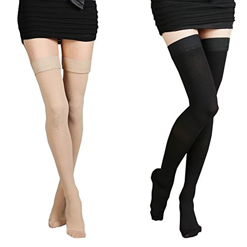 Mwfus Silicone Medical Athletic Running Compression Socks Prevention Varicose Veins Edema Stockings by Mwfus (Image #2)