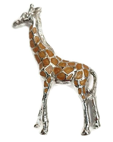 Giraffe Silver Plated - Crystal Temptations Silver Plated Pewter Giraffe Figurine 3 inches