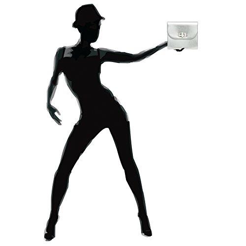 CASPAR Argenté élégant longue à Sac avec pour clutch femme chaînette Pochette main TA374 enveloppe soirée de rZrOqC