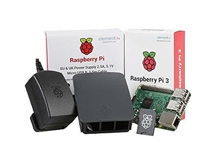 Raspberry Pi 3 Official Desktop Starter Kit (16GB, Black)