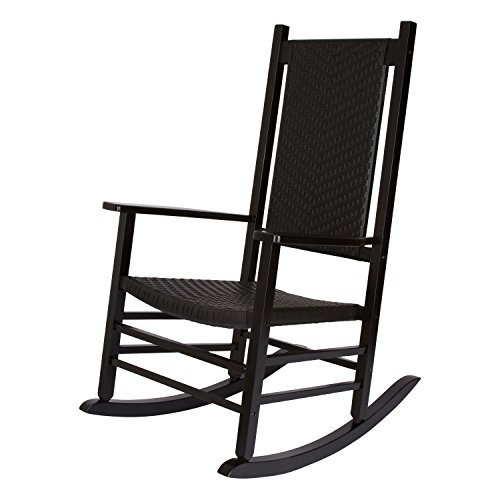 Shine Company Hampton Porch Rocker, Black