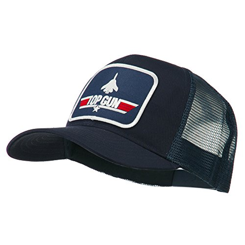 Top Gun Hat (Navy Top Gun Military Patched Mesh Cap - Navy OSFM)
